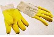 """Перчатки х/б, покрытые вспененным латексом желтые """"Стекольщик"""""""