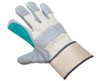 Перчатки защитные комбинированные х/б-спилок усиленные ладонь и палец.