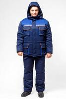 Куртка утепленная тк. грета цв. т/синий-васильковый