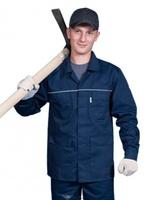 """Куртка рабочая """"Лидер"""", тк. зибо, цв. синий"""