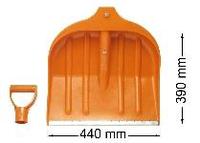 Лопата ЛСУ снеговая пластмас. 440х460мм с/ч