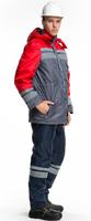 """Куртка утепленная рабочая """"Карпаты"""" цв. серый/красный"""