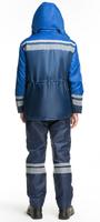 """Куртка утепленная рабочая """"Карпаты"""" цв. синий/васильк."""