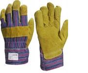 Перчатки комбинированные х/б-Кожа