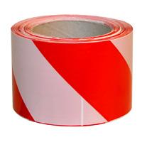Лента сигнальная (красно-белая) 200м