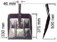 Лопата ЛСУ (совковая широкая)