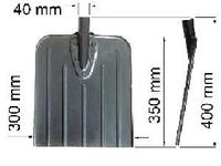Лопата универсальная стальная (37х32 см) (снег, зерно)