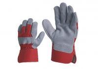 Перчатки комбинированные х/б со спилком STRONG