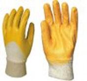 Перчатки х/б, покрытые нитрилом оранжевые