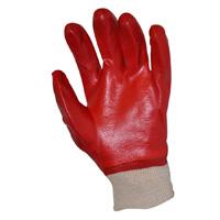Перчатки х/б, покрытые ПВХ красные